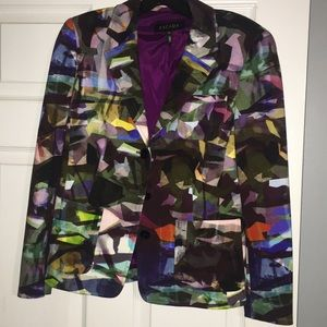 Escada multi color blazer